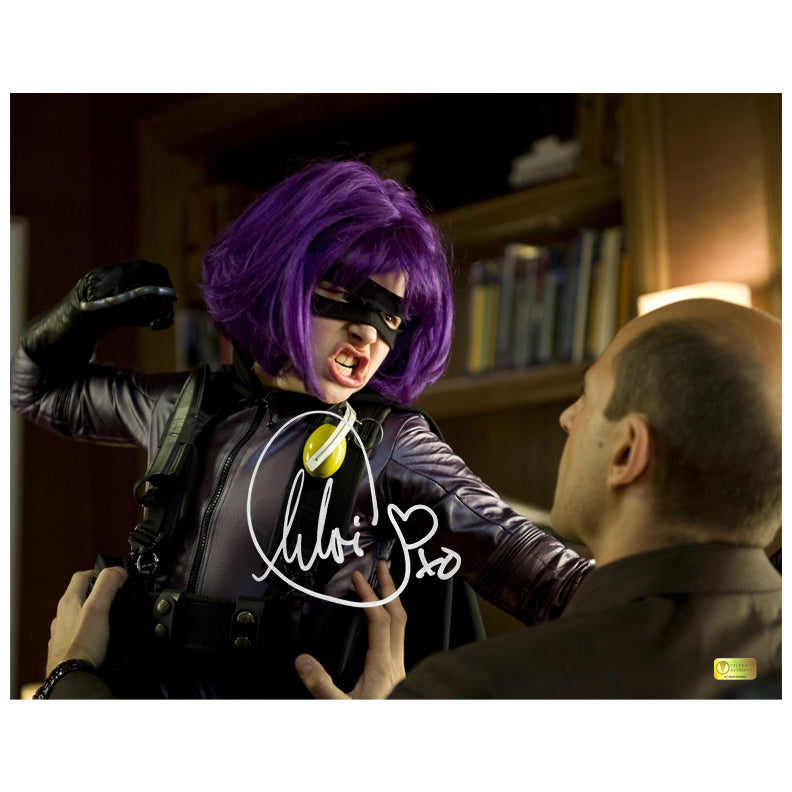 Chloe Grace Moretz Autographed Kick-Ass Hit-Girl Punch 11x14 Photo