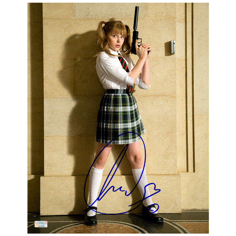 Chloe Grace Moretz Autographed Kick-Ass Hit-Girl School Girl 11x14 Photo