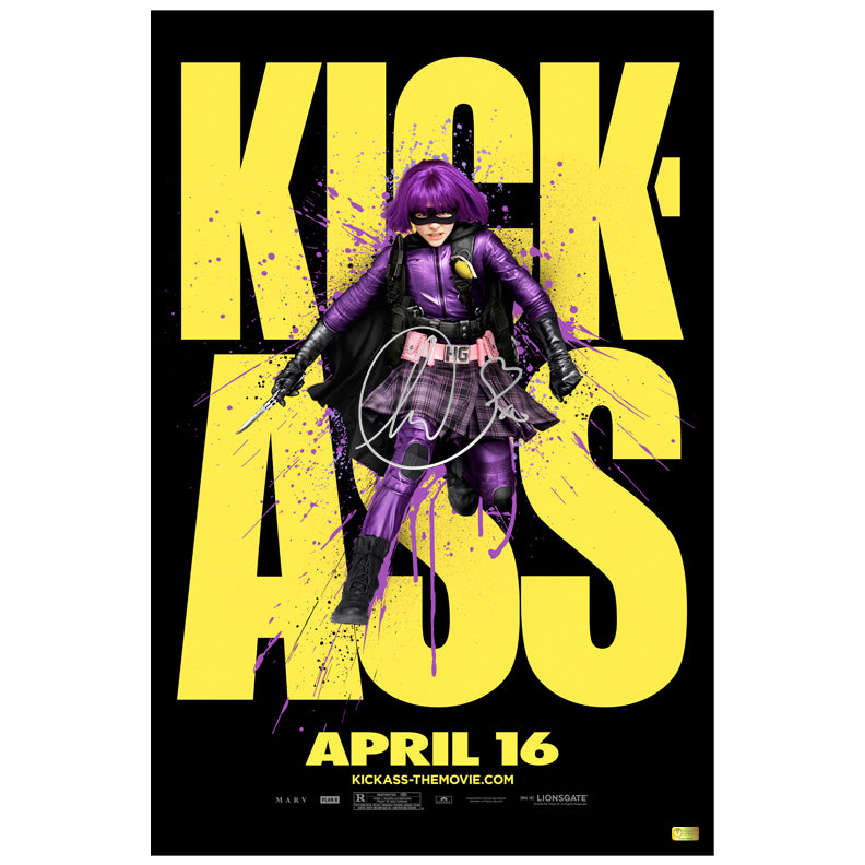 Chloe Grace Moretz Autographed Kick-Ass Hit-Girl Teaser 16x24 Poster