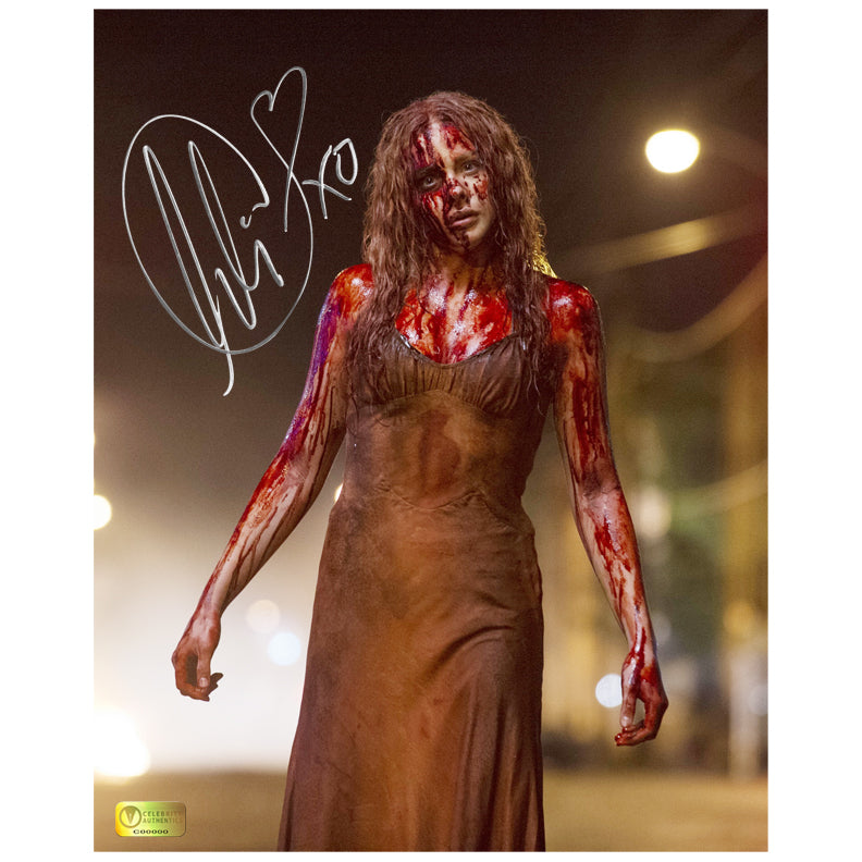 Chloe Grace Moretz Autographed Carrie 8x10 Photo