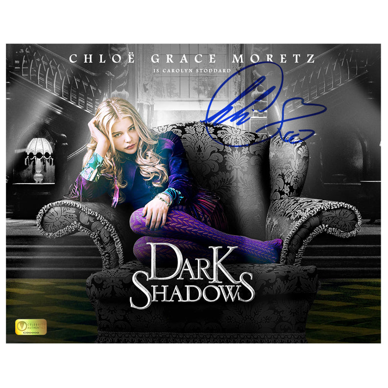 Chloe Grace Moretz Autographed Dark Shadows Carolyn Stoddard 8x10 Photo
