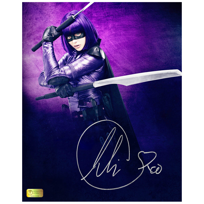 Chloe Grace Moretz Autographed Kick-Ass Hit-Girl 8x10 Photo