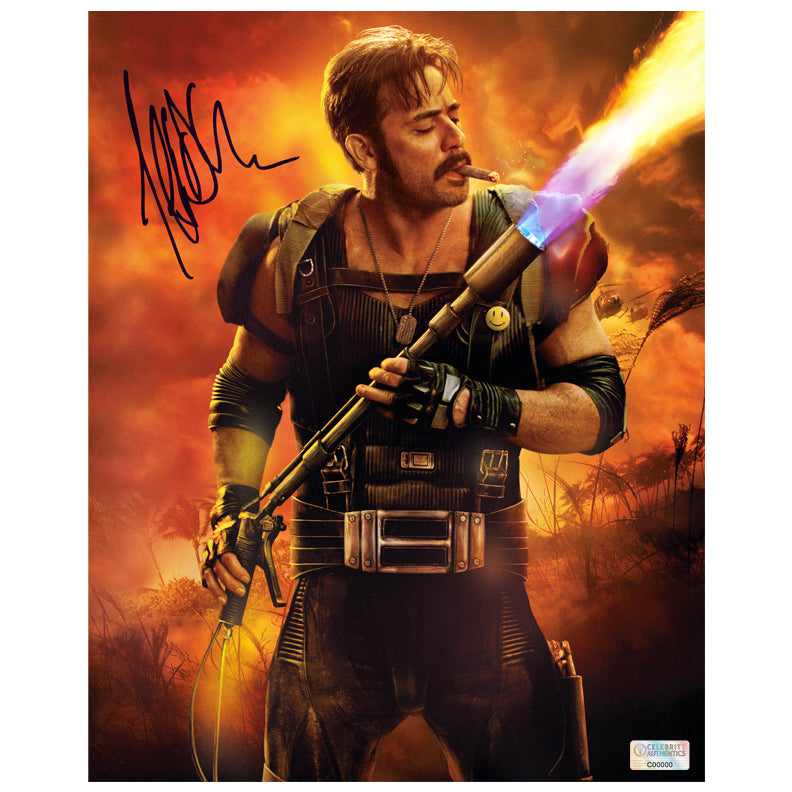 Jeffrey Dean Morgan Autographed Watchmen The Comedian Fired Up 8x10 Photo
