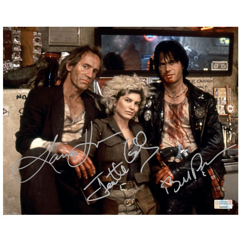 Bill Paxton, Lance Henriksen, Jenette Goldstein Autographed Near Dark 8x10 Photo