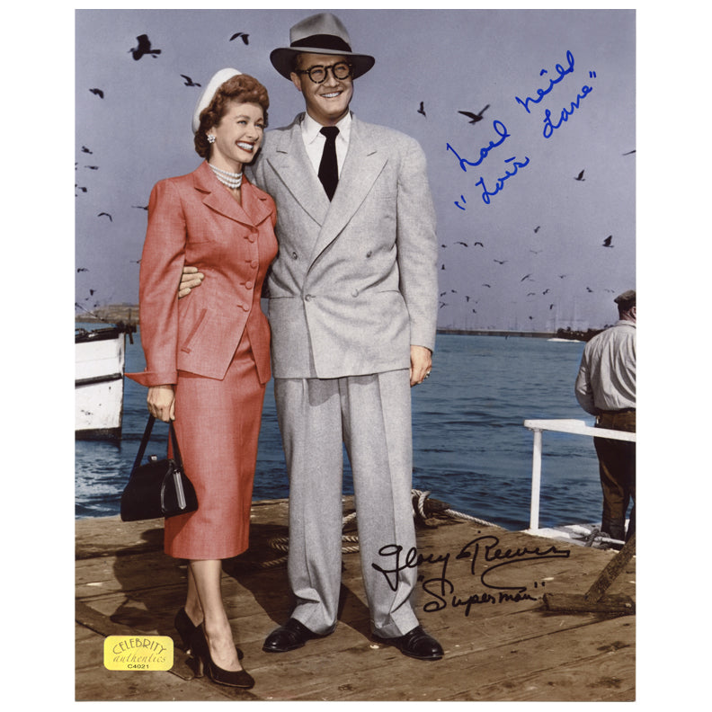 Noel Neill Autographed The Adventures of Superman George Reeves and Lois Lane 8x10 Photo
