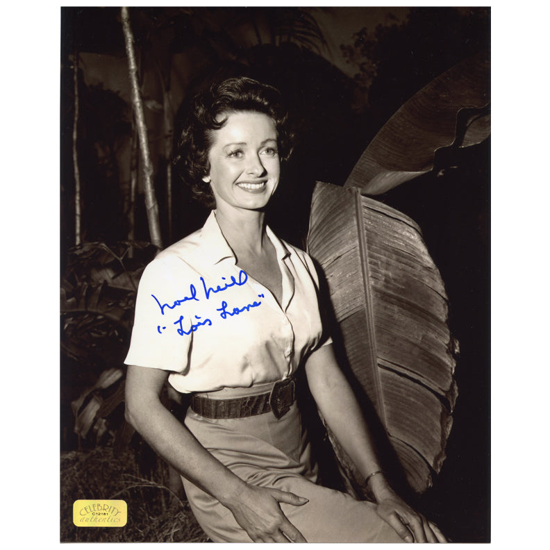 Noel Neill Autographed The Adventures of Superman Lois Lane Jungle 8x10 Photo