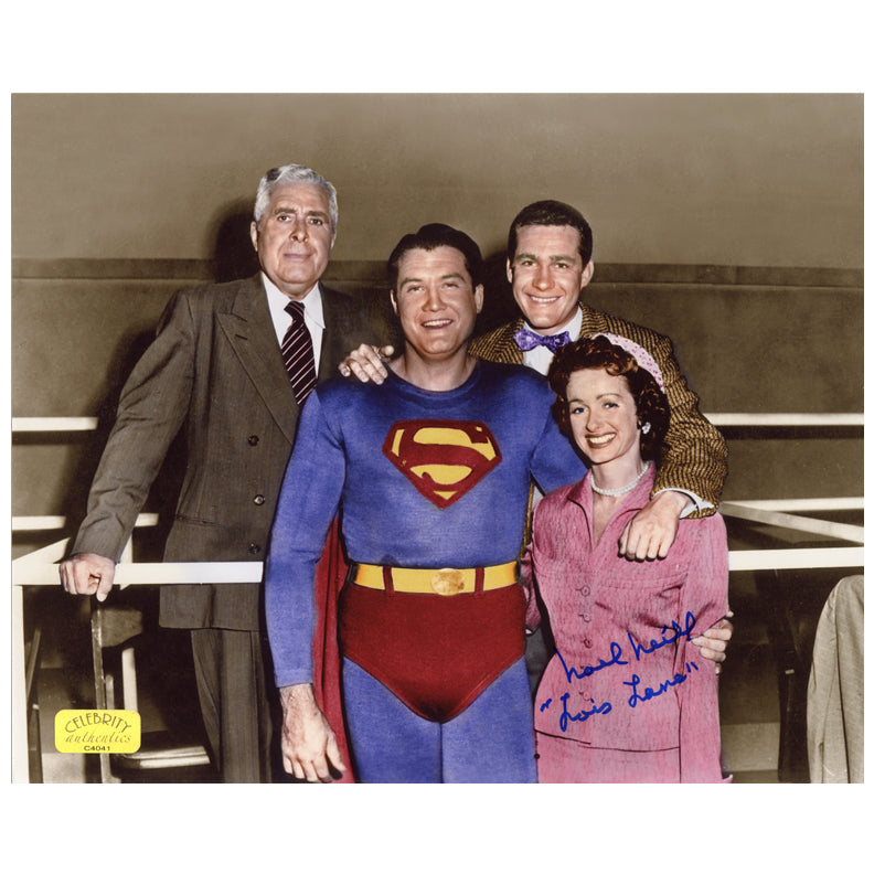 Noel Neill Autographed The Adventures of Superman 8x10 Cast Photo