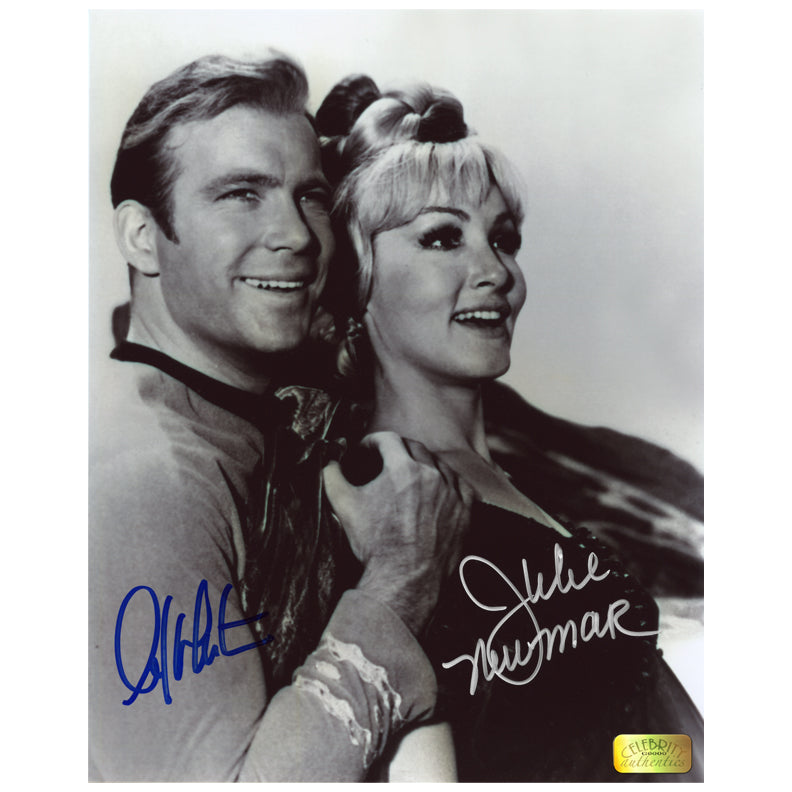 William Shatner and Julie Newmar Autographed Star Trek Kirk and Eleen 8x10 Photo