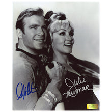 Load image into Gallery viewer, William Shatner and Julie Newmar Autographed Star Trek Kirk and Eleen 8x10 Photo