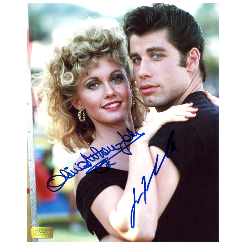 Olivia Newton-John & John Travolta Autographed Grease 8x10 Photo