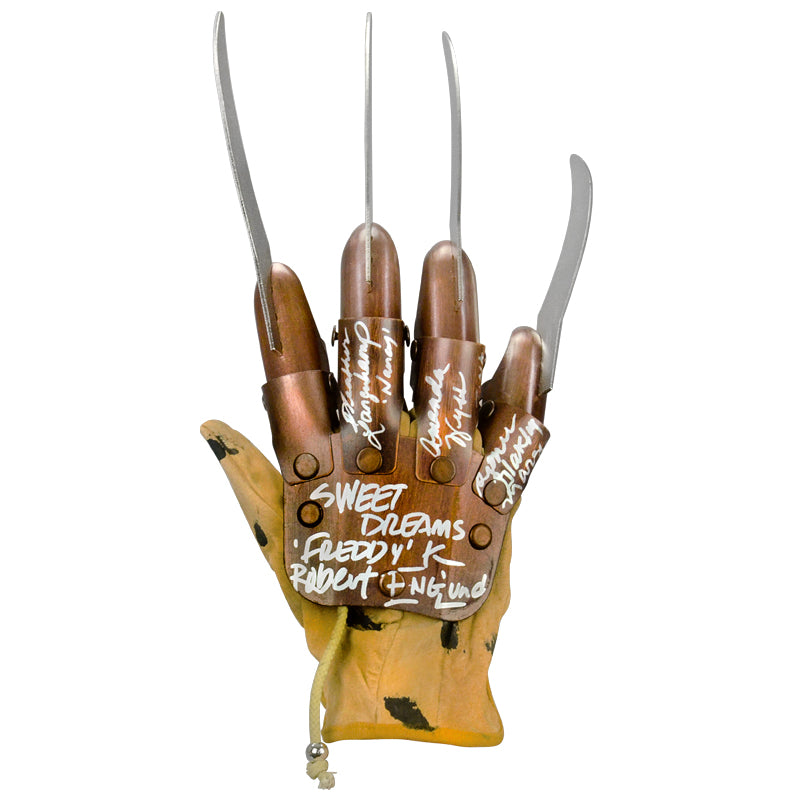 Robert Englund, Heather Lagenkamp, Amanda Wyss, Ronee Blakley Autographed A Nightmare on Elm Street Freddy Kreuger Glove