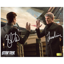 Load image into Gallery viewer, Leonard Nimoy and Zachary Quinto Autographed Star Trek Farewell 8x10 Photo