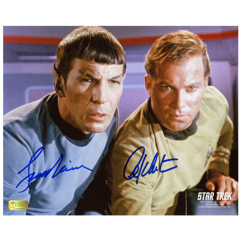 William Shatner and Leonard Nimoy Autographed Star Trek 8x10 Photo