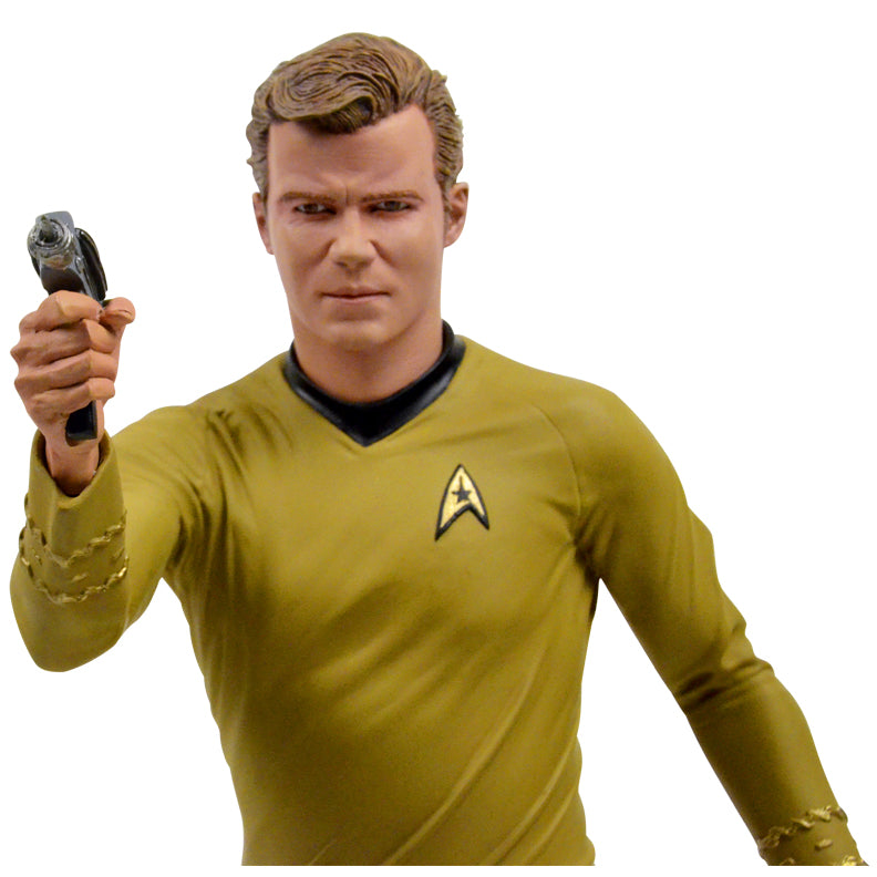 William Shatner and Leonard Nimoy Autographed Star Trek Captain Kirk and Spock Statue Set