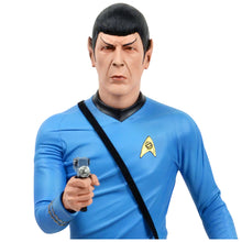Load image into Gallery viewer, William Shatner and Leonard Nimoy Autographed Star Trek Captain Kirk and Spock Statue Set