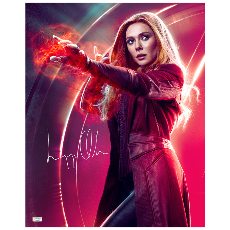 Elizabeth Olsen Autographed Avengers Infinity War Scarlet Witch 16x20 Photo