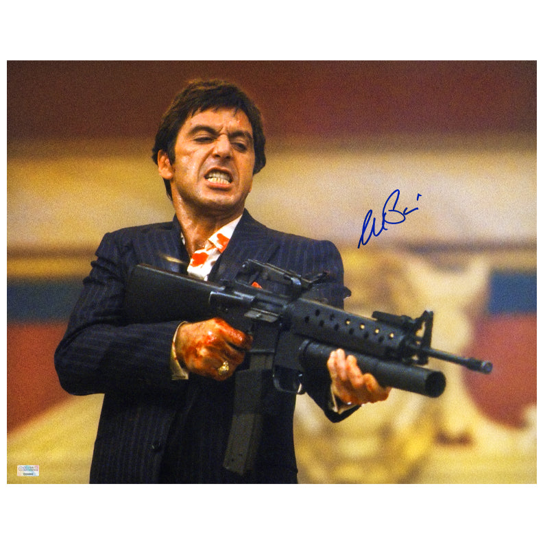 Al Pacino Autographed Scarface Tony Montana Every Dog Has His Day 16x20 Photo