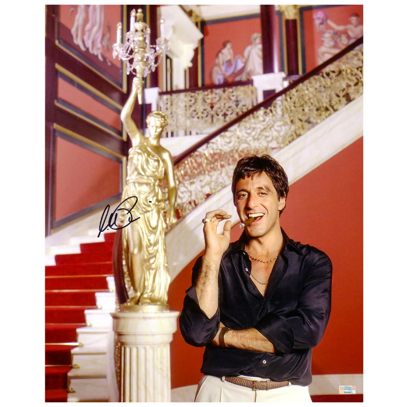 Al Pacino Autographed Scarface Tony Montana The World is Yours 16x20 Photo