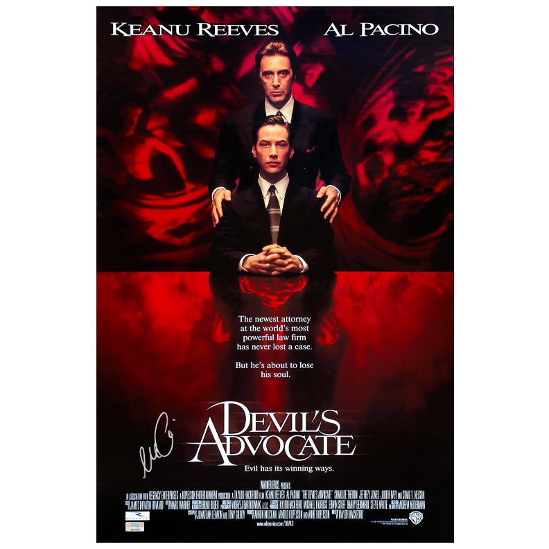 Al Pacino Autographed The Devil's Advocate 16x24 Movie Poster