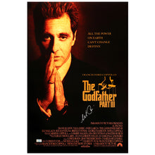 Load image into Gallery viewer, Al Pacino Autographed The Godfather: Part III 16x24 Movie Poster