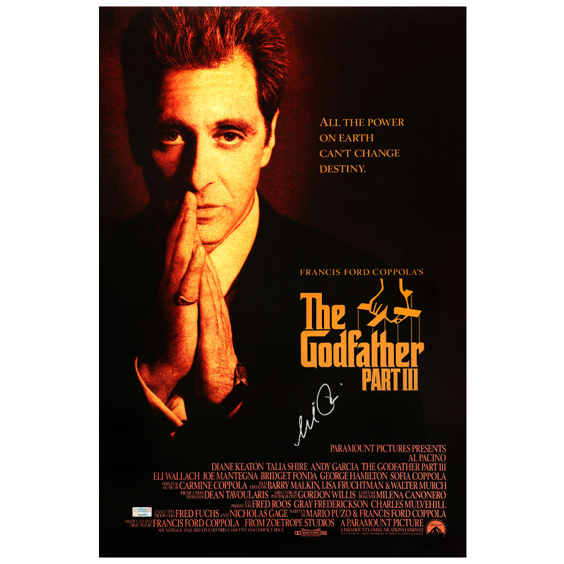 Al Pacino Autographed The Godfather: Part III 16x24 Movie Poster