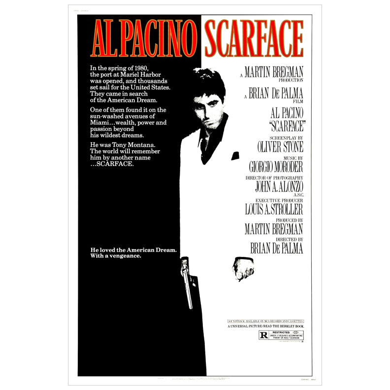 Al Pacino Autographed Scarface 16x24 Movie Poster PRE-ORDER