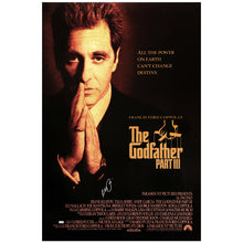 Load image into Gallery viewer, Al Pacino Autographed The Godfather: Part III 27x40 Double Sided Original Movie Poster
