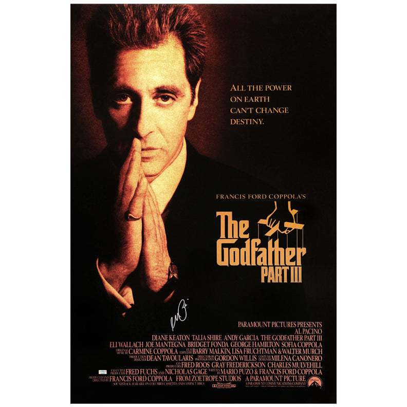 Al Pacino Autographed The Godfather: Part III 27x40 Double Sided Original Movie Poster