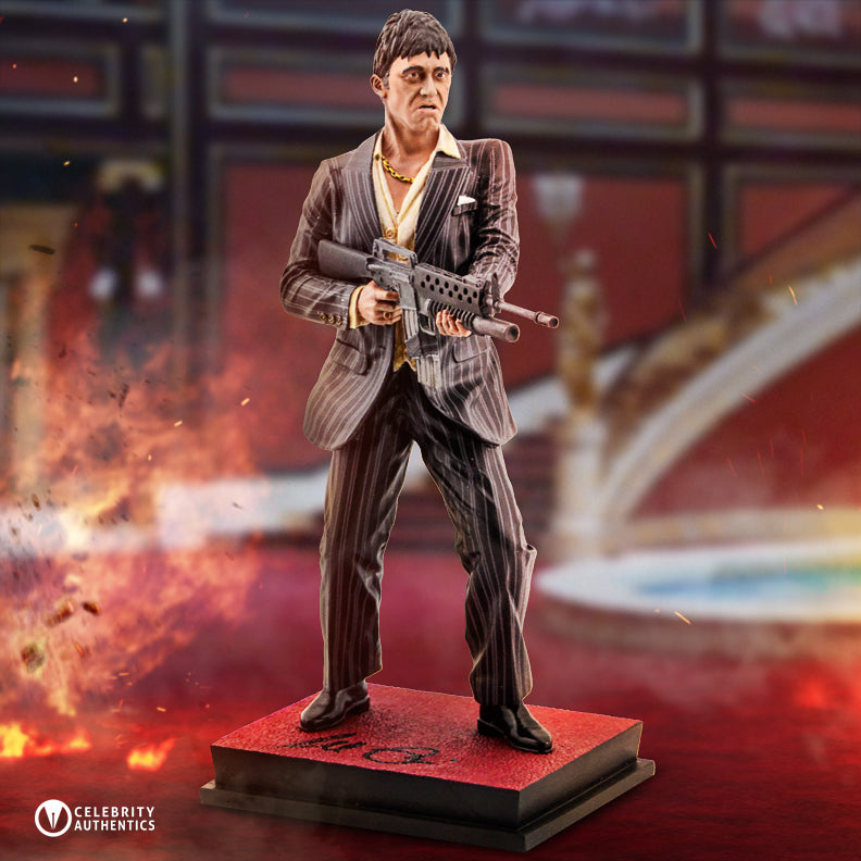 Al Pacino Autographed Scarface Tony Montana My Little Friend 1/6 Scale Statue