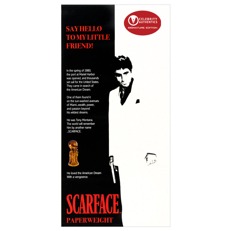 Al Pacino Autographed Scarface Tony Montana The World is Yours Statue