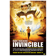 Load image into Gallery viewer, Mark Wahlberg and Vince Papale Autographed Invincible 16x24 Movie Poster