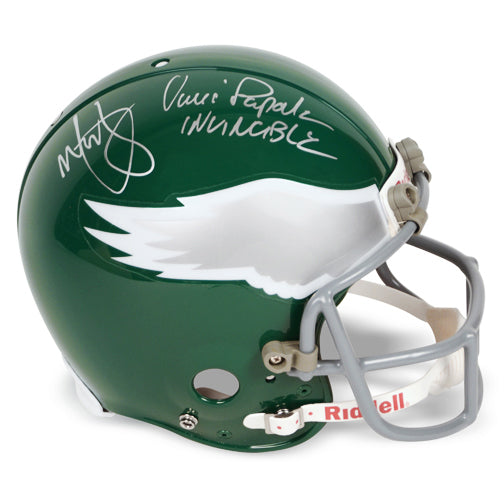Mark Wahlberg and Vince Papale Autographed Invincible Philadelphia Eagles Full Size Helmet