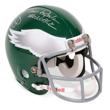 Load image into Gallery viewer, Mark Wahlberg and Vince Papale Autographed Invincible Philadelphia Eagles Full Size Helmet