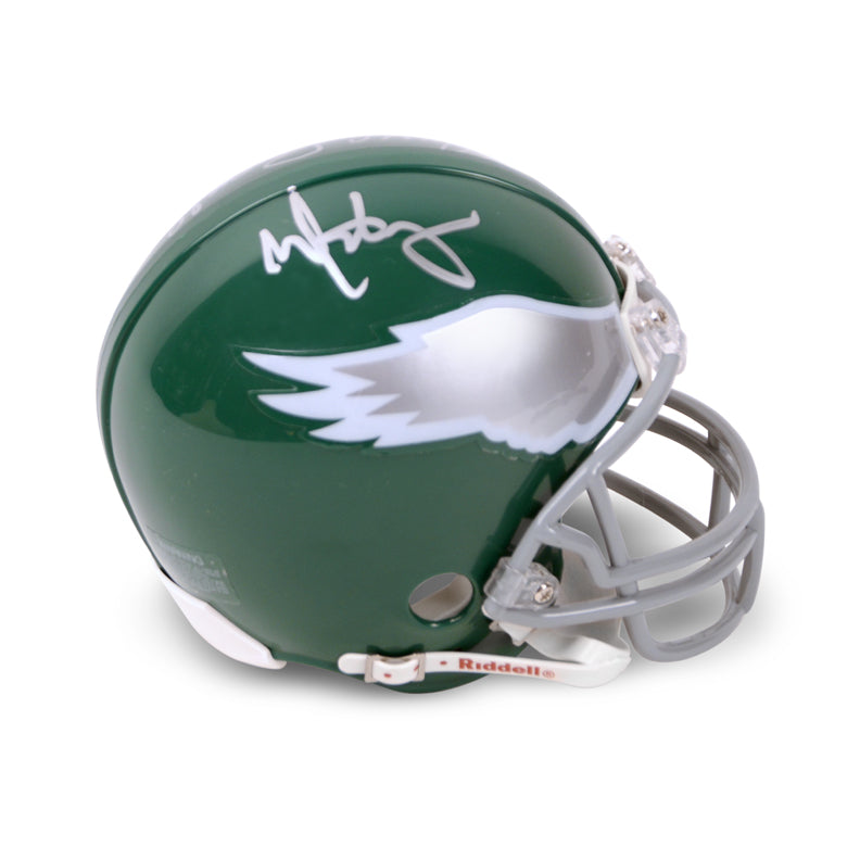 Mark Wahlberg and Vince Papale Autographed Invincible Philadelphia Eagles Mini-Helmet