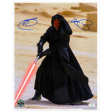 Load image into Gallery viewer, Ray Park Autographed Star Wars The Phantom Menace Darth Maul 11x14 Metallic Photo