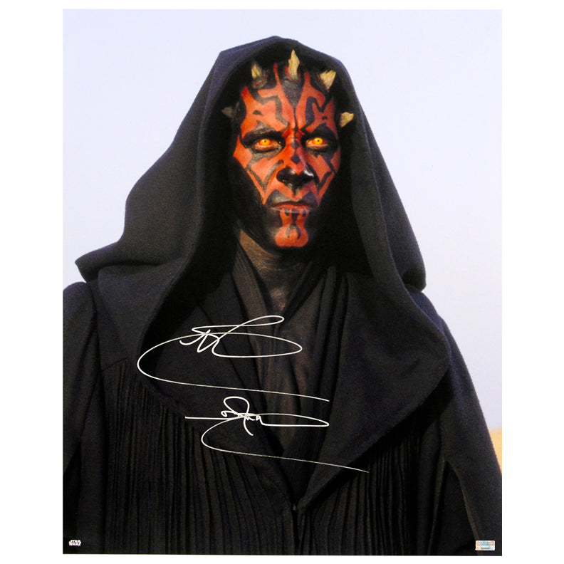 Ray Park Autographed Star Wars The Phantom Menace Darth Maul 16x20 Photo
