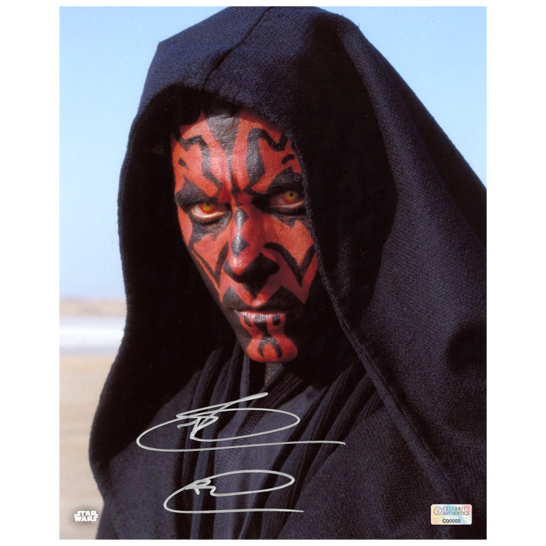 Ray Park Autographed Star Wars The Phantom Menace Darth Maul Tatooine 8x10 Photo