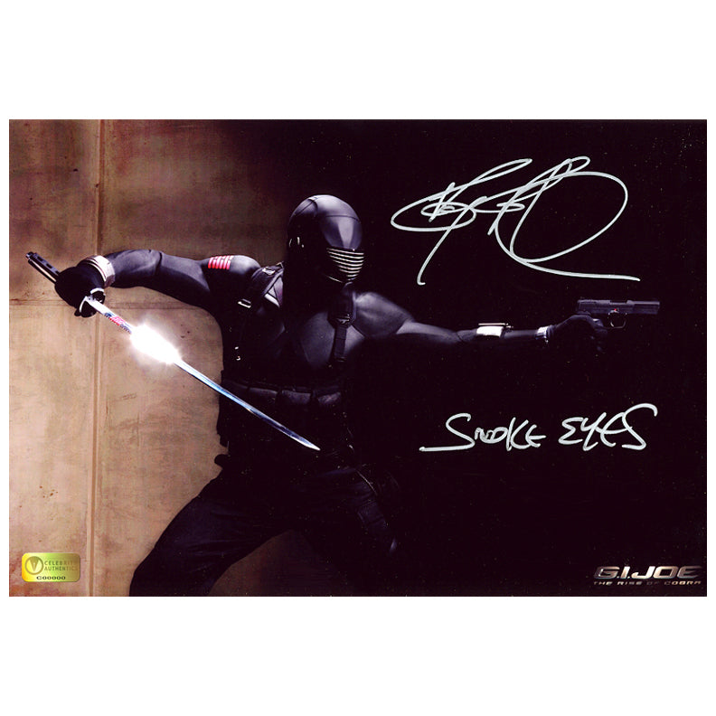 Ray Park Autographed G.I. Joe Snake Eyes 8x12 Action Photo