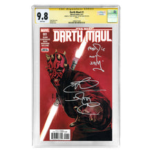 Load image into Gallery viewer, Ray Park Autographed Darth Maul #1 CGC SS 9.8 with Fear Is My Ally Inscription