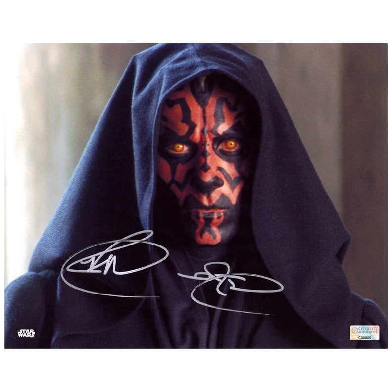 Ray Park Autographed Star Wars The Phantom Menace Darth Maul 8x10 Close Up Photo