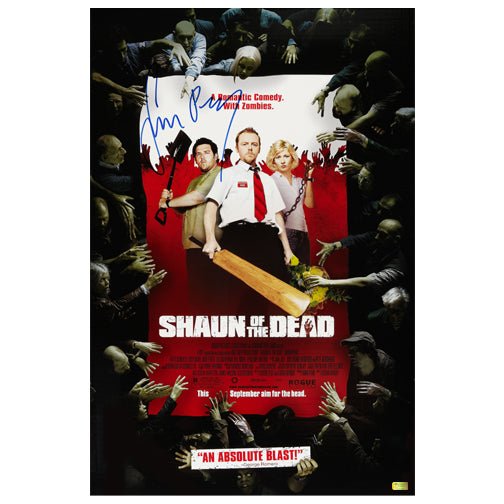 Simon Pegg Autographed Shaun of the Dead 16x24 Poster
