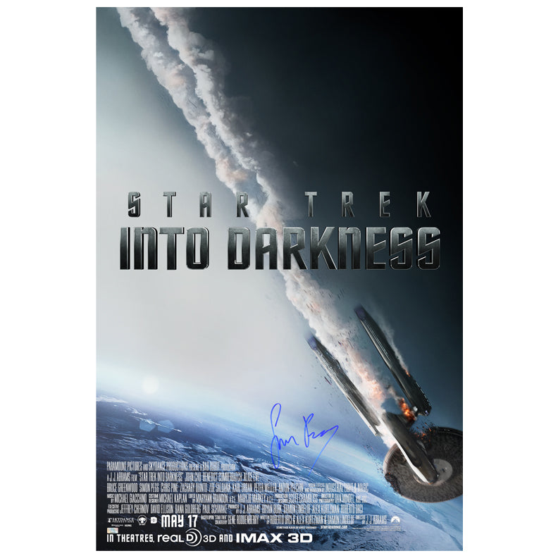 Simon Pegg Autographed Star Trek: Into Darkness 24x36 Poster
