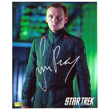 Load image into Gallery viewer, Simon Pegg Autographed Star Trek: Into Darkness Scotty in Flight Suit 8x10 Photo