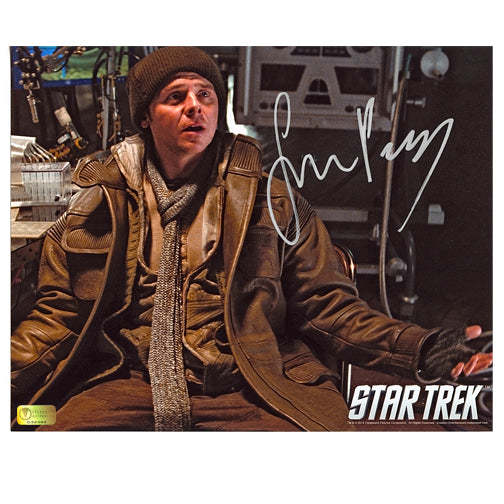 Simon Pegg Autographed Star Trek Scotty Outpost 8x10 Scene Photo