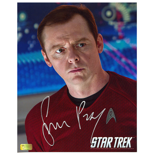 Simon Pegg Autographed Star Trek Scotty 8x10 Close Up Photo
