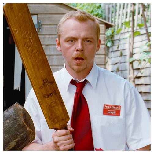 Simon Pegg Autographed Shaun of the Dead Cricket Bat