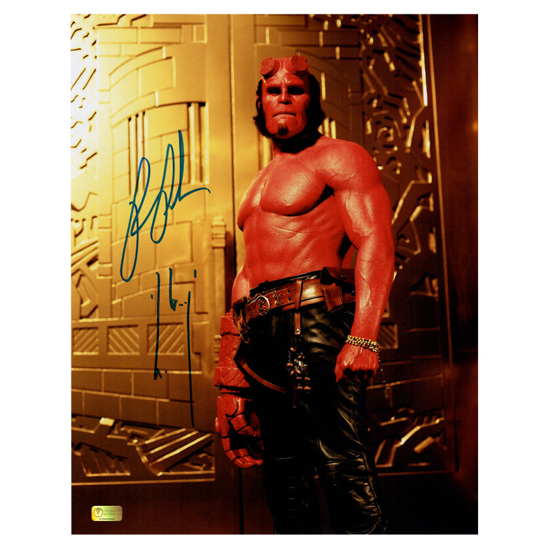 Ron Perlman Autographed Classic Hellboy 11x14 Photo