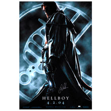 Load image into Gallery viewer, Ron Perlman Autographed 2004 Hellboy Original 27x40 Double-Sided Movie Poster