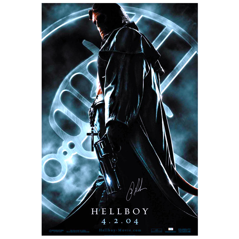 Ron Perlman Autographed 2004 Hellboy Original 27x40 Double-Sided Movie Poster