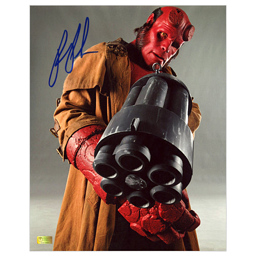 Ron Perlman Autographed Hellboy II with Big Baby 8x10 Photo